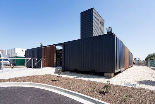 connected shipping containers form royal wolf HQ by room 11 - designboom | architecture & design magazine