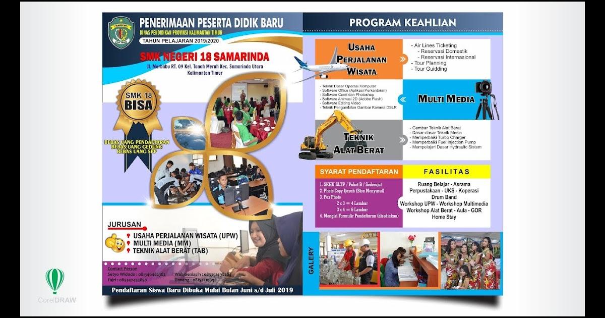 Desain Pamflet Ppdb Cdr - gambar spanduk