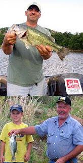 Father's Day bass fishing report from Lake Tom Steed, submitted by future bass pro Mike Diehl