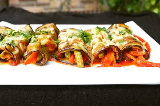 EGGPLANT ROULADE WITH MARINARA SAUCE