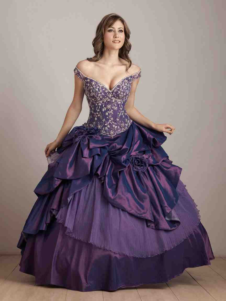 black and purple wedding dress  wedding and bridal