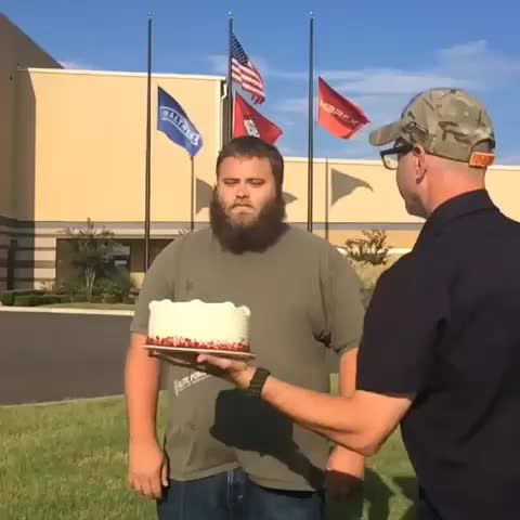 "Elite Force Eric took a ""Cake in the Face"" when we were challenged by Parafrog Airsoft!! Full video http://youtu.be/mA7rMdZbMlc"