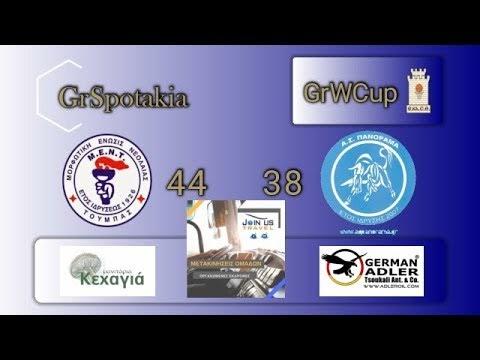 Στιγμιότυπα από τον αγώνα ΜΕΝΤ-ΑΣ Πανόραμα 44-38 για τα ημιτελικά του κυπέλλου γυναικών της ΕΚΑΣΘ