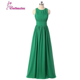 Royal Blue Emerald Green Chiffon Dress Bridesmaid Dresses