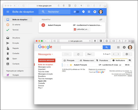 Comment passer de la messagerie en ligne Gmail à Inbox Google ?