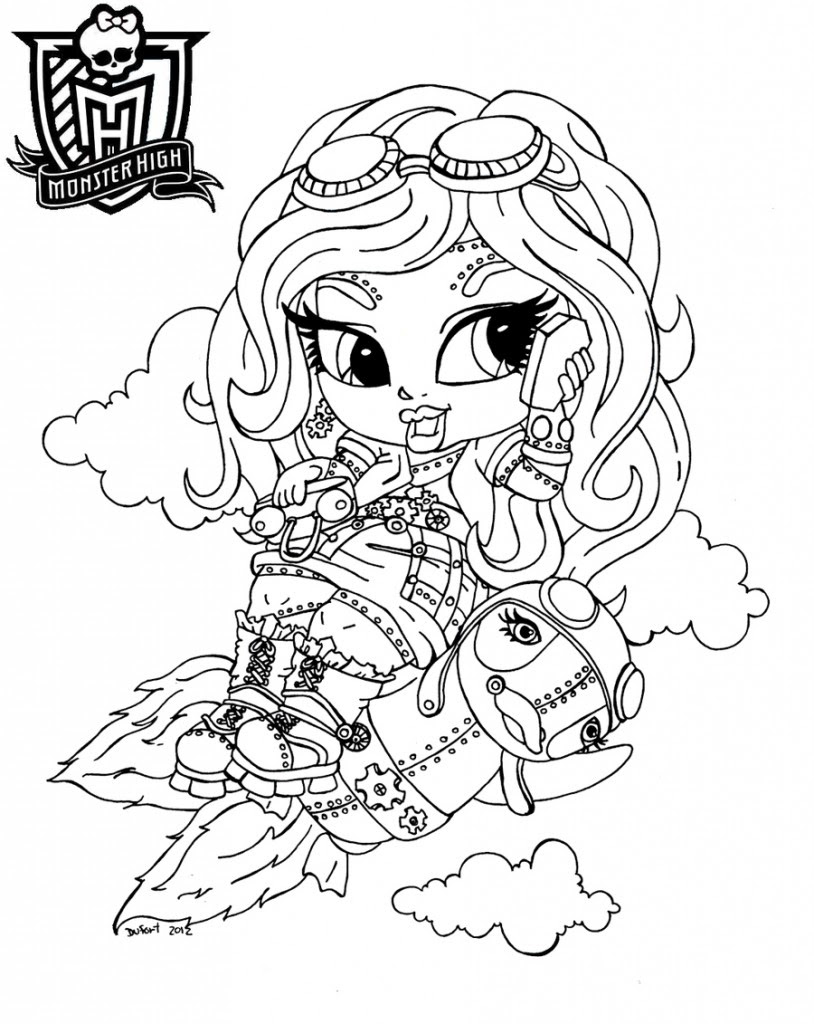 Monster High Baby Coloring Pages s