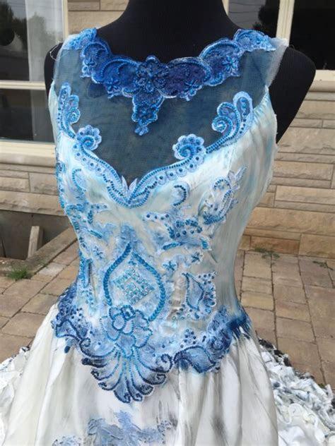 Corpse Bride Emily Halloween Costume Wedding Dress Veil