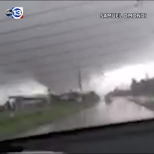 My son in Houston, TX just sent me this. This tornado happened at Barker Cypress and West Rd. About ...