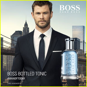 Chris Hemwsorth Suits Up For Hugo Boss Fragrance Campaign