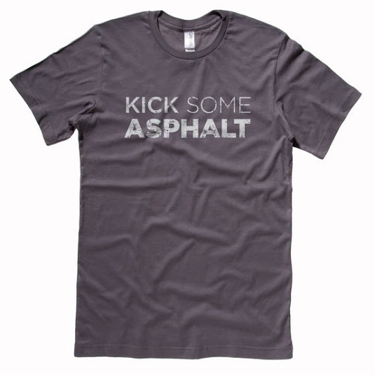 Kick Some Asphalt  Running Shirt  Women's or by GarCard on Etsy