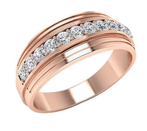SI1/G Natural 0.60Ct Diamond Jewelry Men's Ring Engagement