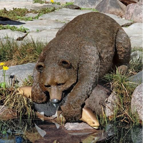 Catch of The Day Grand Bear Statue - modern - garden sculptures ...