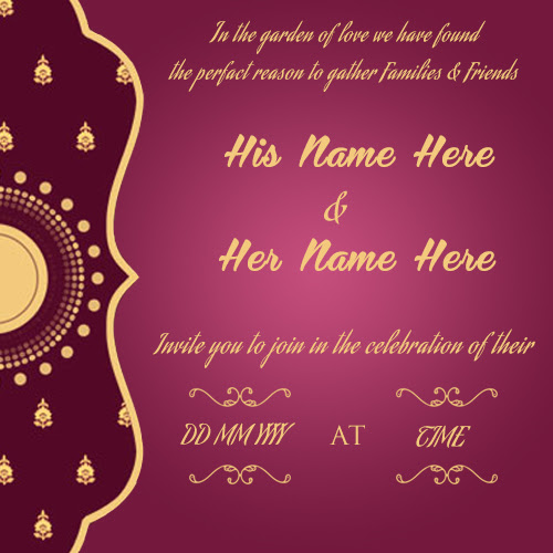 Create Wedding Invitation Card Online Free | wishes greeting card