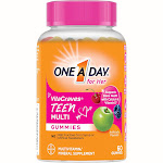 One A Day Teen Women's VitaCraves Multivitamin Gummies - Green Apple, Cherry & Berry - 60ct
