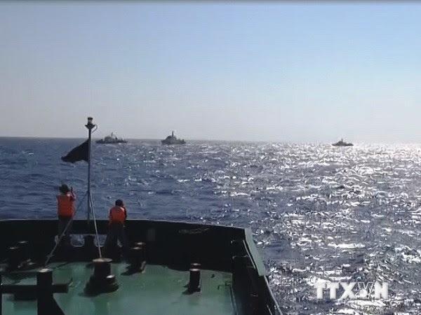 tàu chiến, Trung Quốc, giàn khoan, Hải Dương 981, kiểm ngư, cảnh sát biển, Biển Đông