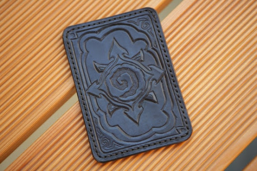 Hearthstone Handcrafted Genuine Leather Inkblue Geek от WildOx