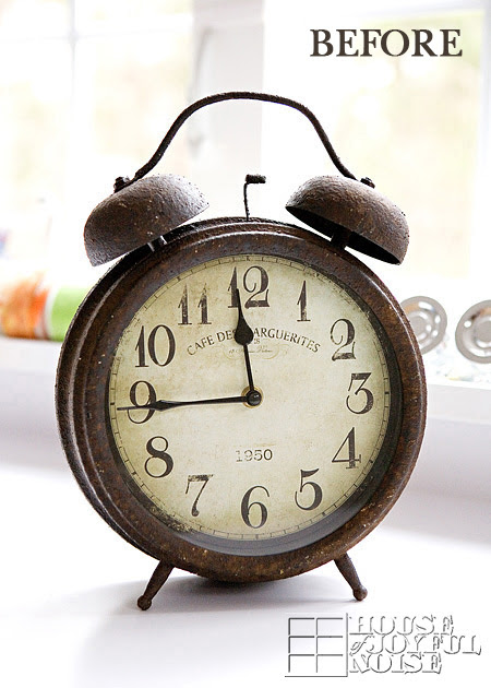 Old Junk - A Big Old Rusty Clock Makeover & An Old Cabinet |