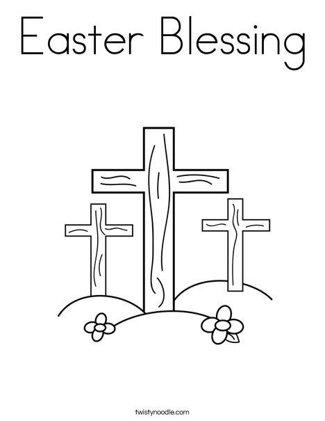 Cruces en una colina colorear
