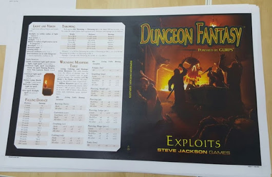 Update 66: Dungeon Fantasy Now In Prepress · Dungeon Fantasy Roleplaying Game, Powered by GURPS