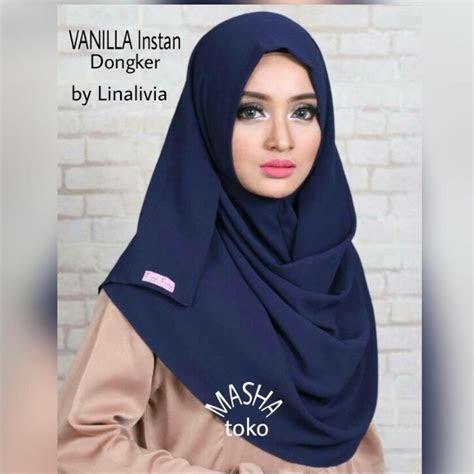 jilbab instan rumana rempel  warna blue  hijab
