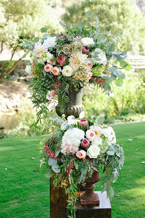 Wedding Ceremony Flowers, The Ranch at Laguna Beach, Urn