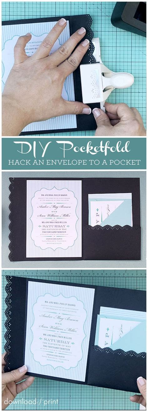 How to hack an envelope into a pocket invitation. Such a