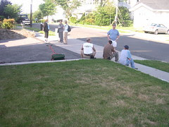 Production crew in my driveway
