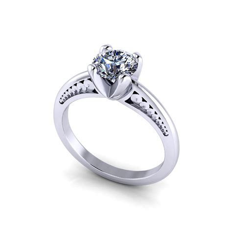 Unique Solitaire Engagement Ring   Jewelry Designs
