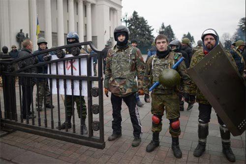 Ukraina, Kiev, tự phòng, tự quản, cảnh sát, bảo vệ, canh giữ