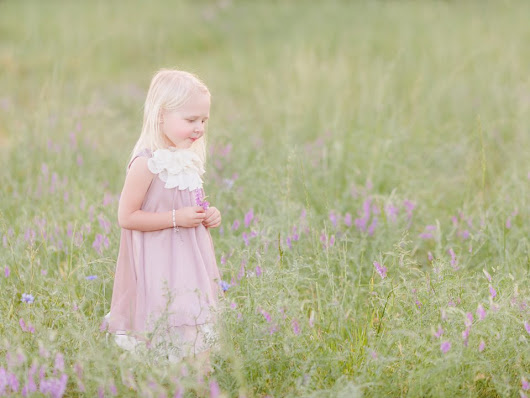 Purple Flower Field | Athens, GA Child Photography