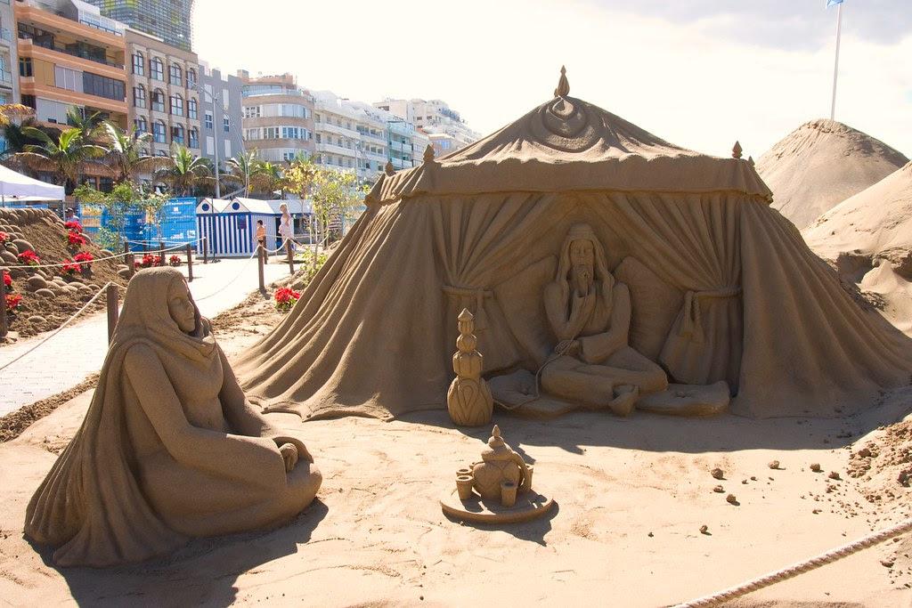 V Belén de arena de la Playa de Las Canteras 2010.Las Palmas de Gran Canaria
