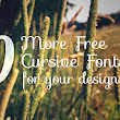 10 More Free Cursive Fonts for your designs