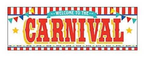 carnival printed banner