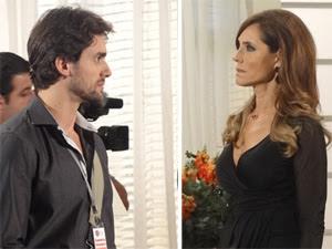 A perua sai do sério ao ser chamada de Valdéz (Foto: Fina Estampa/TV Globo)