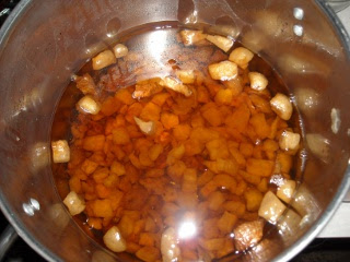 Pig Fat Cracklins Sunk to Bottom of Pot