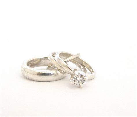 Miniature Wedding Ring Set Charm Pendant Engagement Ring