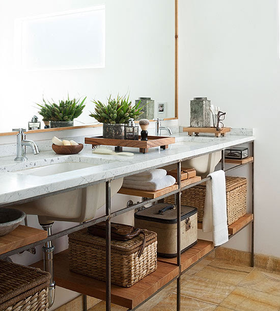 Practical Bathroom Storage Tips -- Better Homes and ...