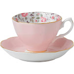 Royal Albert Rose Confetti Fine Bone China - Tea Cup & Saucer