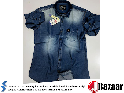 Denim Shirts Cheap l Direct From Factory l Wholesale l Denim Shirt Branded & Non Branded