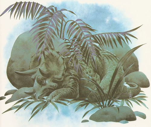 Sleeping Triceratops