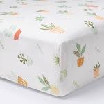 Fitted Crib Sheet Plants - Cloud Island