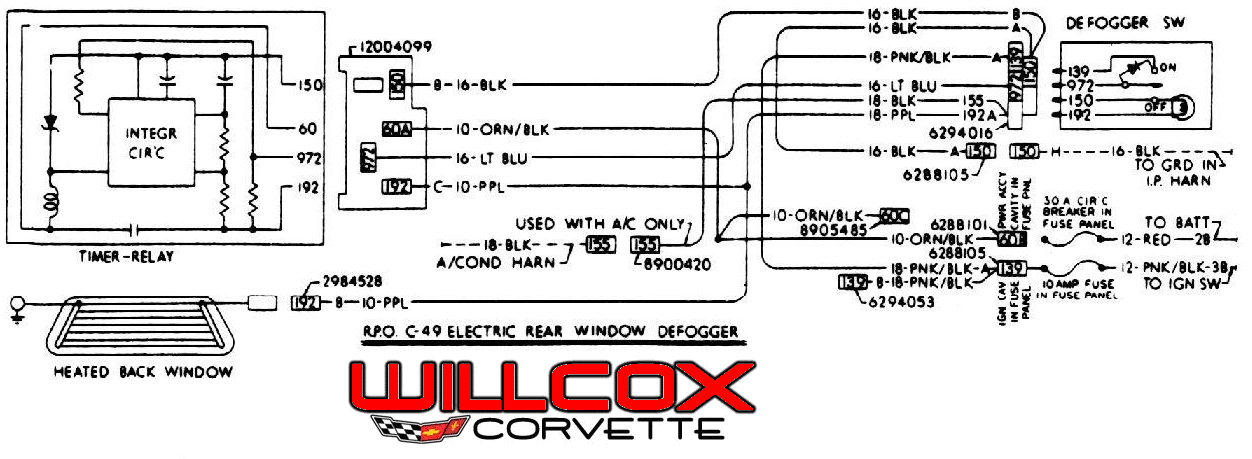 Corvette Wiring Schematic
