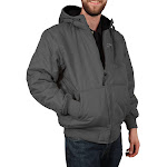 Freeze Defense Men's Fleece Lined Quilted Winter Jacket Coat (Large, Gray)