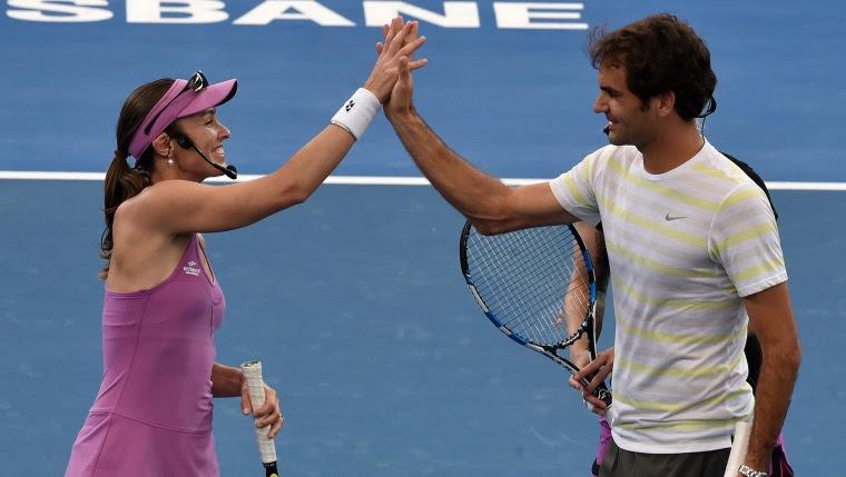 Martina Hingis et Roger Federer