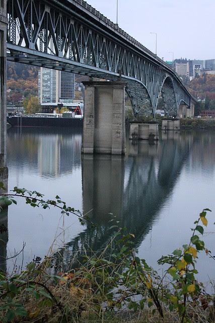 Ross Island Bridge from Springwater Trail