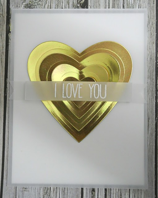 Gold Heart I love you