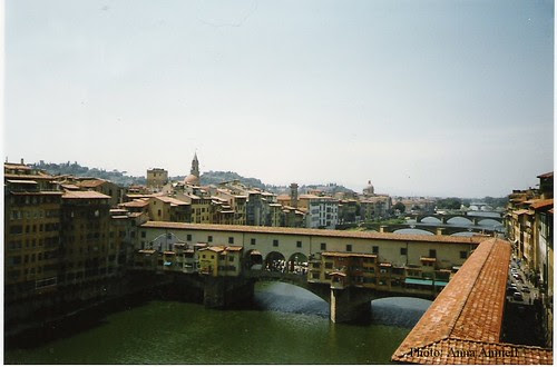 the view from Uffizi, Arno, Florence, Ponte Vecchio