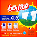 Bounce Fabric Softener, Outdoor Fresh, Sheets - 2 - 160 ct boxes [320 sheets]