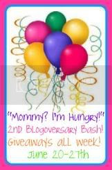 Mommy? I'm Hungry! Blogoversary Party!