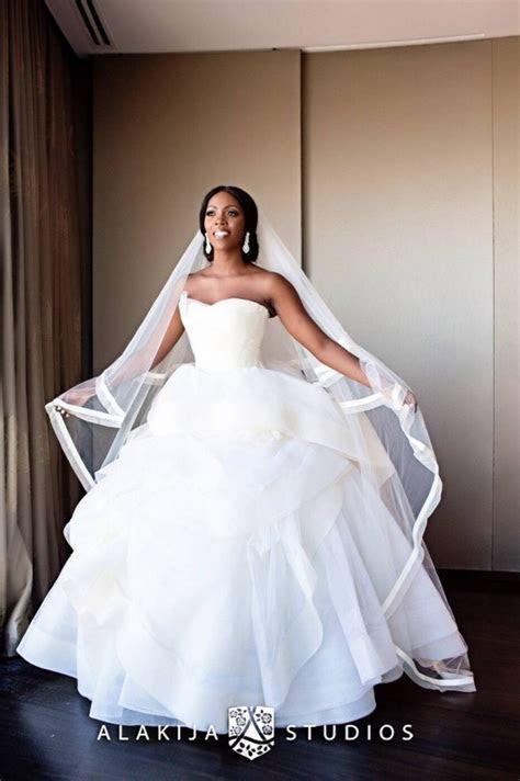 [Photos] 6 Stunning Nigerian Celebrity Wedding Gowns That